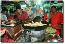 Vada Pav Stand in Mumbai