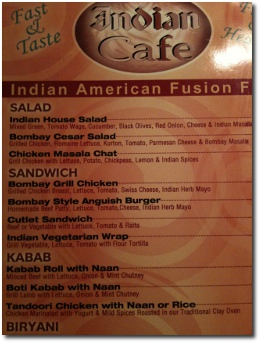 Funny Indian Restaurant Menu Typos